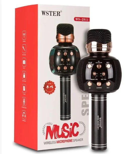 Беспроводной bluetooth караоке микрофон WSTER WS 2911 Киев - изображение 1