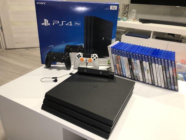 Playstation 4 Pro 2xpad kamerka 22gry MEGA ZESTAW