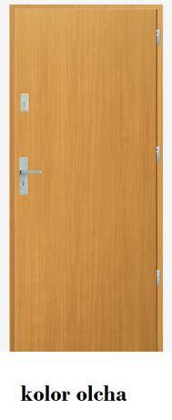 Drzwi gładkie, kolor olcha, cały komplet