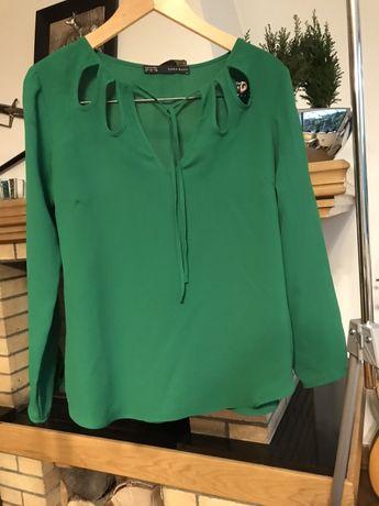 Zara bluzka 38 zielona