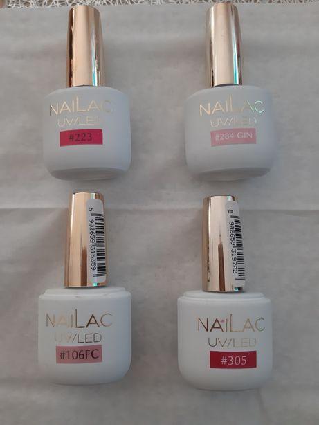 Lakiery hybrydowe NaiLac 106 FC, 284 GIN, 223, 305