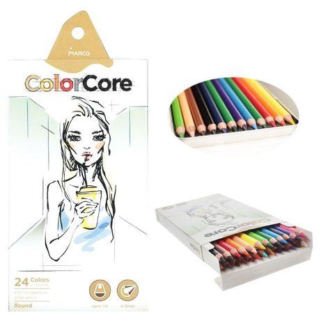Новые цветные карандаши Marco ColorCore 25 шт
