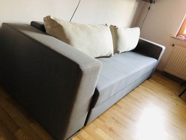 Promocja Sofa Rozkładana szara z fotelem nowoczesna, loft, industrial