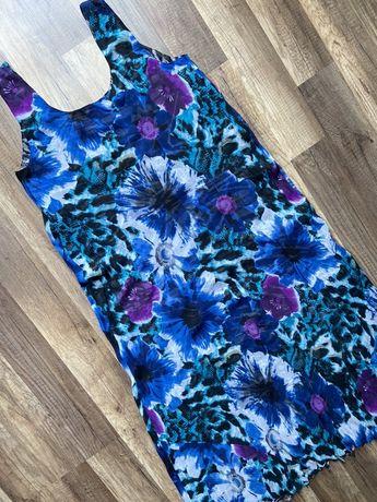 Kolorowa dwustronna sukienka w rozm. 42 XL