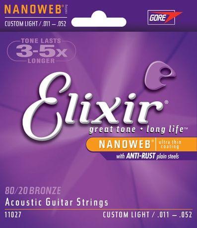 J. Cordas Guitarra Acústica 11/52 Elixir - 11027