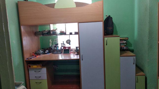 стенка детская кровать + шкаф