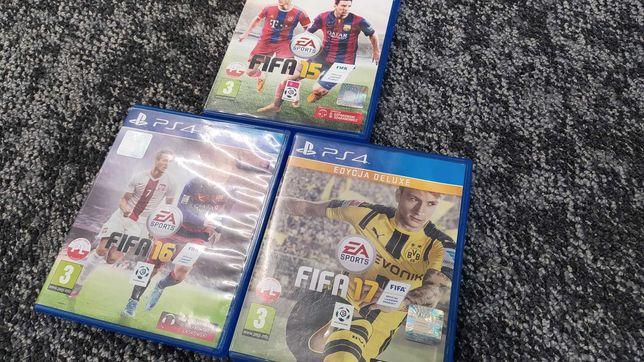 FIFA15, FIFA16, FIFA17 gry na PlayStation4 stan B.DOBRY