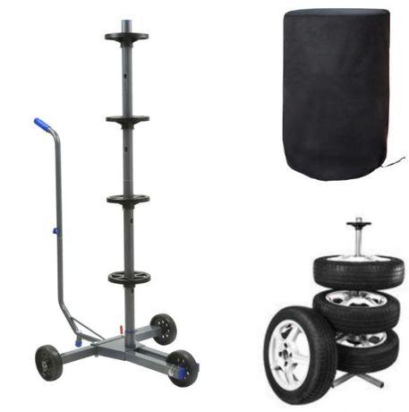 Suporte para pneus com cobertura