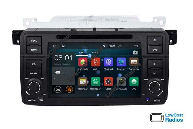 PROMOÇÃO: Rádio GPS ANDROID 10 — BMW E46 (Série 3) com Internet Wifi