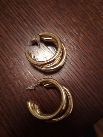 Kolczyki ze stali chirurgicznej podwójne koła.