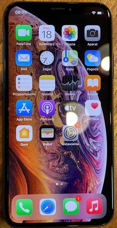 IPHONE XS 64 GB złoty, stan b.dobry z oryginalnym zasilaczem i kablem