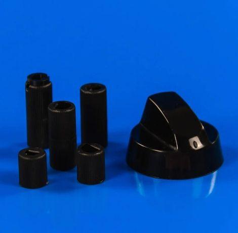 Ручка плиты уневирсальная (ЧЕРНАЯ) + 5 переходников для плит и духовок