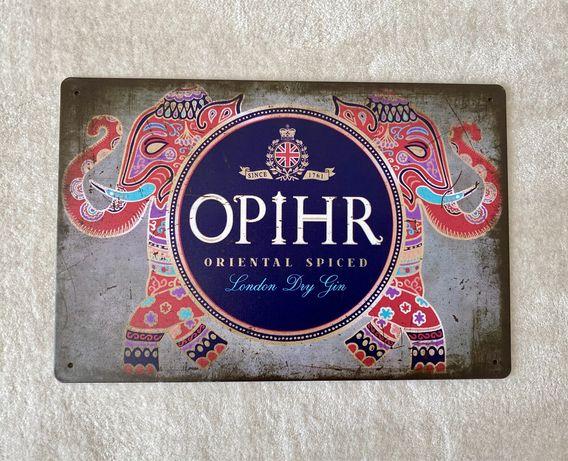 (ultima) OPIHR Gin | Placa Metalica Decorativa (nova)