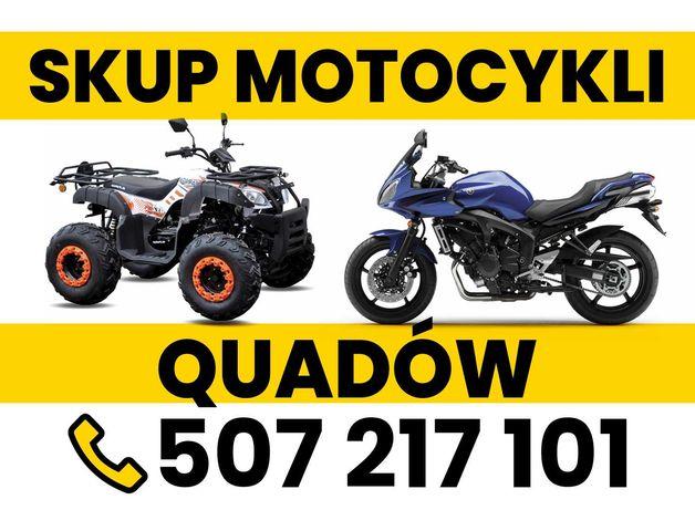 Skup quadów motocykli każda marka przyjedziemy !!