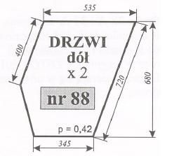 Szyby drzwi dolna ursus 912, C-385, C385, C 385, ACX165