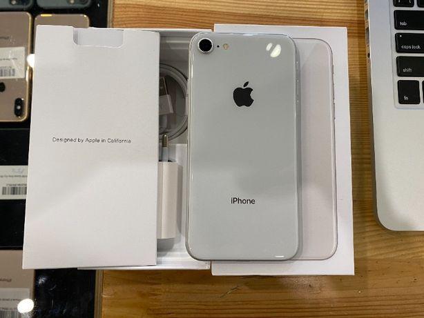 iPhone 8 64gb silver/Айфон 8 64гб белый Гарантия! Полный комплект!