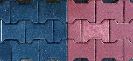 Kostka brukowa- BEHATON kość grafit/czerwona 6 cm