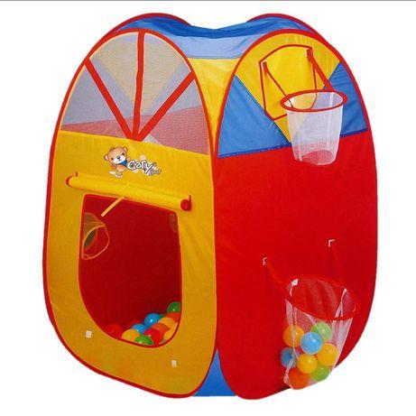 Детская игровая палатка с баскетбольным кольцом и мячиками