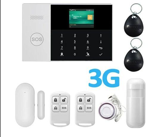 Alarm GSM WiFI 3G komplet czujki piloty