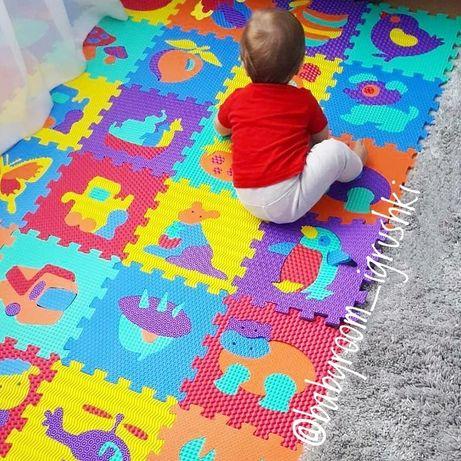 Коврик пазл Eva. Коврик для детей, детский коврик. Коврик мозаика