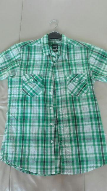 Koszula w krate z krótkim rękawkiem