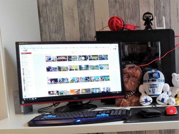 komputer stacjonarny i5-6600k gtx 1060 6gb 8gb ram monitor AOC G2460PF