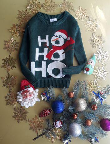 Новогодний свитерок на 3-4 года