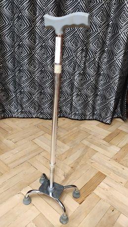 трость металлическая для ходьбы на 4 ножках