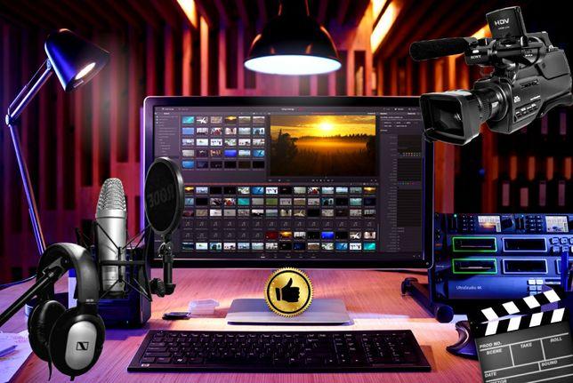 Відео монтаж та зйомка відео в разних направленях