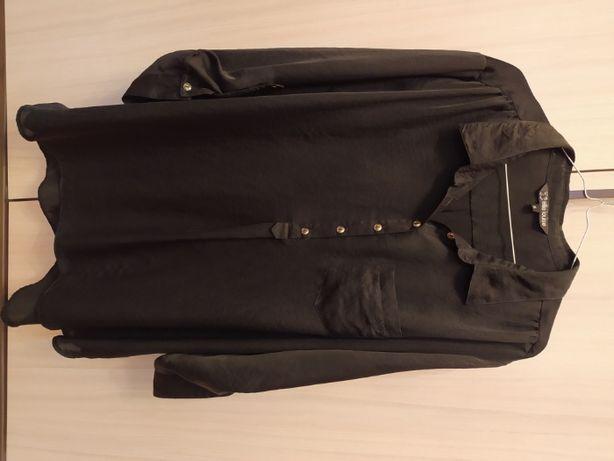 "lekka czarna koszula, ""lejąca"", r. XL"