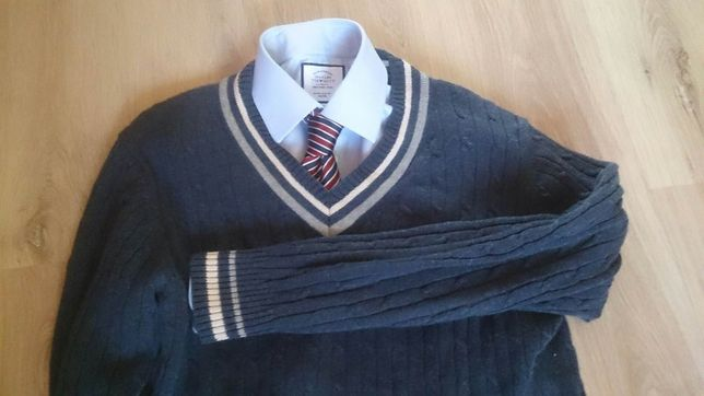 PREPPY sweter tenisowy M - Blue Harbour