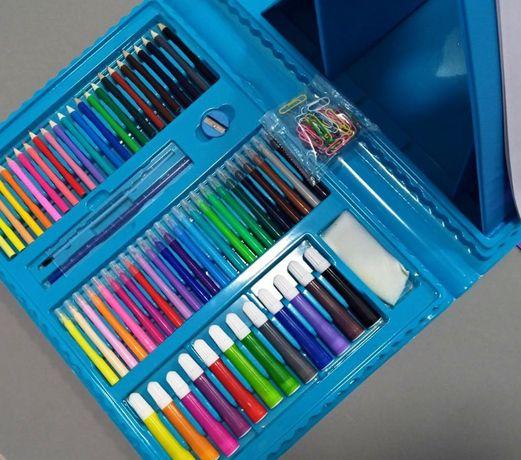 Новий набір для малювання 208 предметів фарби, олівці, фломастери