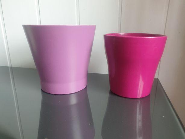 Osłonki ceramiczne na doniczki Komplet
