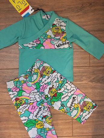 Пижама спанч боб рост 86см. Новая.