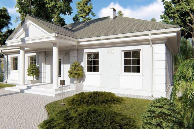 Projekt domu parterowego 112 m2, projekt typowy, gotowy