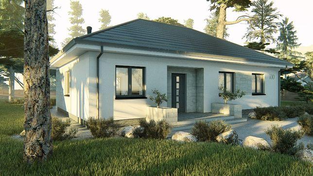 Projekt domu parterowego 94 m2, projekt typowy, gotowy