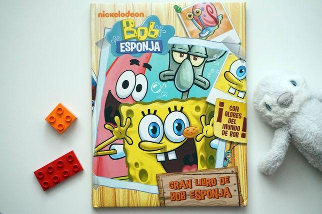 Bob Esponja - hiszpańska książka z łamigłówkami