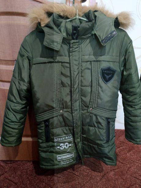 Зимняя удлененная куртка