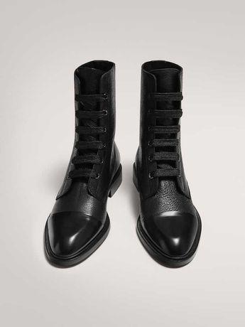 Skórzane sznurowane buty. Massimo dutti. Nowe. R.