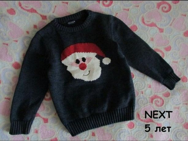 Новорічний светр Next хлопчику 5 років