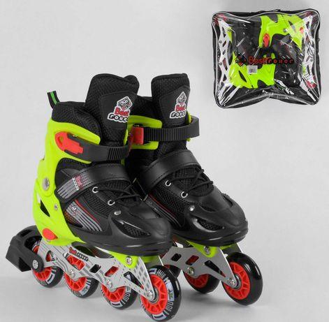 Роликовые коньки,  ролики раздвижные Bеst Roller, размер 30-33