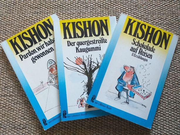 Trzy książki Kishona. Niemieckojęzyczne.