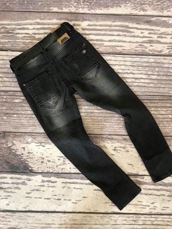 Spodnie jeans z paskiem dla chłopca 110,122