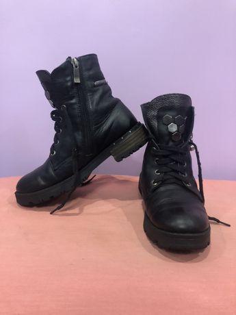 Дитячі зимові шкіряні черевики