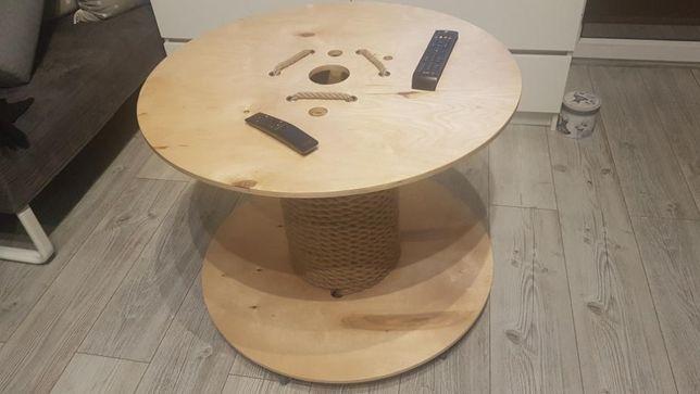 Stolik kawowy okrągły, szpula. Loft Industrial