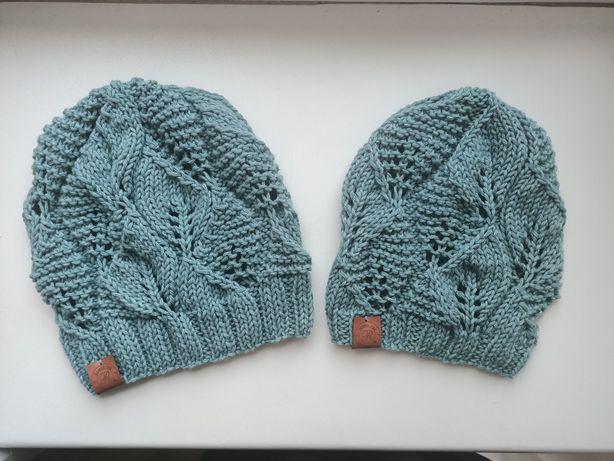 Ręcznie robione czapki wełna bawełna kaszmir 100% rękodzieło handmade