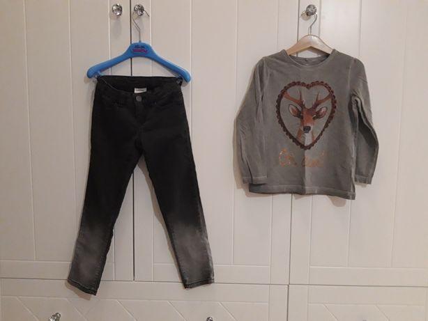 spodnie jeansy bluzka Name it r.116