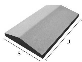 Daszki betonowe, daszek betonowy na murki słupki, ogrodzenia