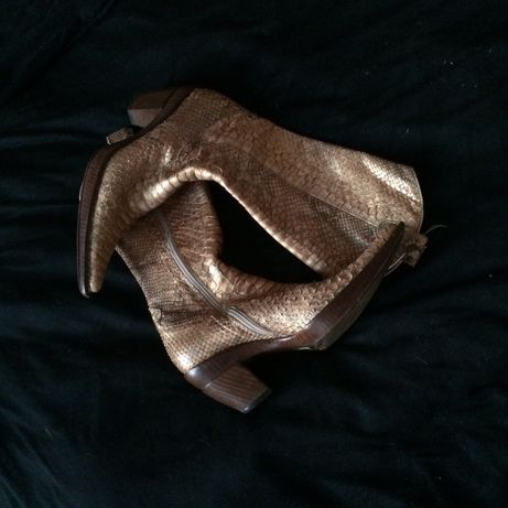 Gianni Bravo, Italy, ковбойские сапоги из кожи питона, 38 размер