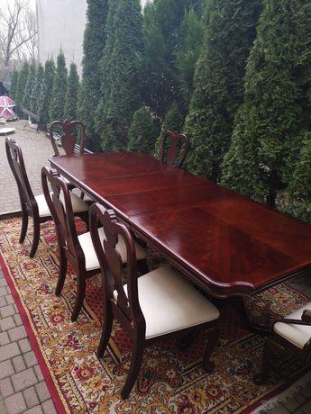 Stół + krzeseł 2 trony